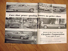 1961 Chrysler Plymouth Imperial Valiant Dodge Dart Lancer Ad