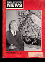 Chemical and Engineering News Magazine Victor G Bartram July 19 1954