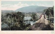 Antique Postcard c1907-20 Railroad Tracks in the Berkshires Huntington, Ma 14228