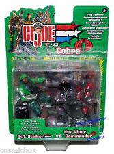 GI JOE vs COBRA blister de 2 figurines Stalker Neo Viper commander action figure