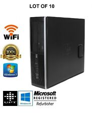 LOT OF 10 HP 8200/6200 250GB Win 7, I5 Quad Core up to 3.4GHz 8GB Desktop PC