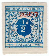 (I.B) South Eastern & Chatham Railway : Prepaid Newspaper Parcel ½d