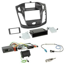 JVC Lenkrad Adapter+FORD FOCUS DYB ab2011 Doppel 2-DIN Radio Blende+Fach+Antenne