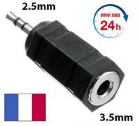 Adaptateur Audio Stéréo prise Mini Jack 2,5mm Mâle vers 3,5mm Femelle NEUF