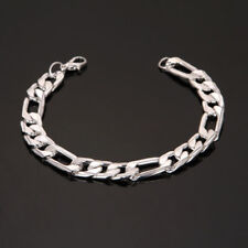 Silver Gun Black Stainless Steel Men's Chain Bracelet Wristband Cuff Punk Bangle