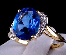 4.06cts Genuine Color Change Fluorite with Accents 10k Solid Gold Ring, Size 7