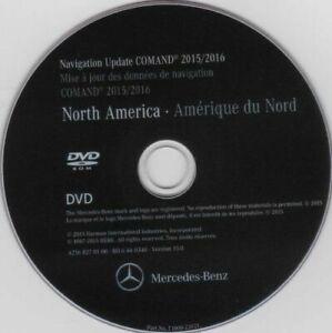 Mercedes Benz LATEST Navigation DVD Map Update NTG3 Comand Aps North America v15
