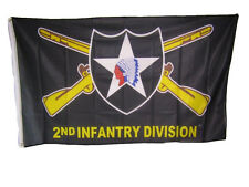 3x5 Army 2nd Infantry Division Indian Head Knitted Nylon Premium Flag 3'x5'
