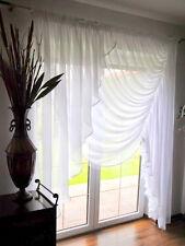 Moderne Fenstergardine aus Voile Schöne Gardine NEU HG-KORA weiß Fertiggardine