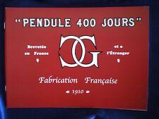 Claude Grivolas 1910 400 Day / Anniversary Clock Catalog Reprint