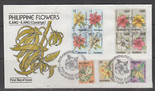 Philippine Stamps 1991 Philippine Flowers Series 1 Complete set FDC