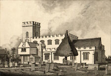 ENFIELD, MIDDX. 1794 John Thomas Smith - St. Andrew's Church ETCHING