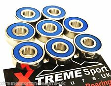 8 Pack 627 RS [7mm] Xtreme CLASSIC SEALED BEARINGS ROLLER SKATE INLINE QUAD