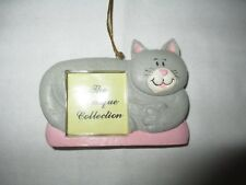 The Unique Collection GREY & WHITE Kitten Cat Kitty Photo Frame Ornament!  NEW!