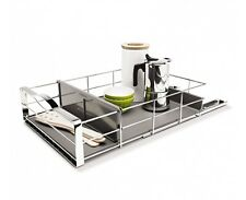 simplehuman 14 inch stainless steel pull-out cabinet organizer