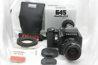 [TOP MINT]  Pentax 645 Medium Format w SMC A 55mm f/2.8 Lens + Hood from Japan