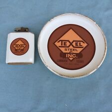 VINTAGE TEXEL STEEL ASHTRAY TABLE LIGHTER LUBBOCK TEXAS WESTERN SPECIALTY 531887
