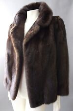 ~ GORGEOUS~ VTG NEIMAN MARCUS Mahogany Ranch Mink Fur Swing COAT