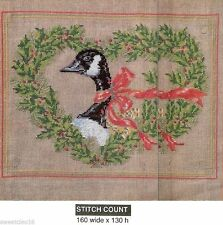 CHRISTMAS  CANADA  GOOSE     -  CROSS STITCH PATTERN    H129M1