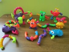 "McDonald Toys 1997 Nickelodeon Tangle ""Twist-A-Zoid""  Complete Set of 8"