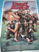 Large Vintage Movie Poster Combat Academy Video Store Folded Gordon Clooney