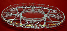 """LARGE 5 SECTION GLASS RELISH TRAY * WITH GOLD EDGING * 15"""" BY 10"""" * MINT COND"""