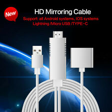 3 in 1 HDMI HD Screen Mirroring AV Adaptor Cable WiFi Dongle For iPhone Samsung