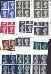 1969-1977 Machin HV plate Blocks UMNH ** no hinge  - sold & priced individually
