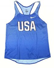 Nike USA Digital Race Day Elite Running Singlet Blue Women' M 835974 USATF Blue