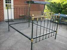 ANTIQUE IRON AND BRASS FULL SIZE BED
