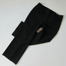 NWT Ann Taylor Signature Fit in Black Tonal Stripe Straight Trouser Pant 14 x 30