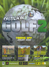 "Outlaw Golf2 ""teeing Off January"" 2005 Magazine Advert #4768"