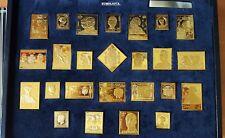 """Colección De Sellos """"La Casa de Borbón"""" Plata maciza chapada en oro de 22 ktes."""