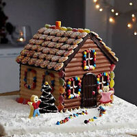 Cute 3D Christmas House Xmas Fondant Mould Cake Decor Chocolate Cutter Mold Hot