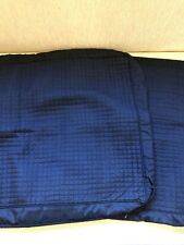 Hotel Collection Pair Of Standard Black Quilted Silk Blend Pillow Shams