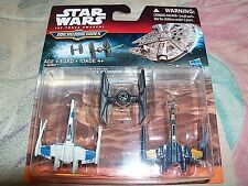 DISNEY STAR WARS MICROMACHINES X-WING DOGFIGHT=POE'S X-WING+TIE FIGHTER+X-WING