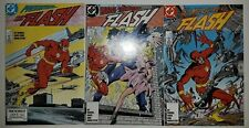 **FLASH #1,2,3 LOT OF 3**(1987, DC)**NEW TEEN TITANS APPEARANCE**HIGH GRADE**