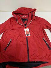 Medium Tommy Hilfiger Ladies RED Windbreaker Hooded...