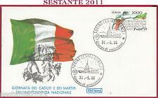 ITALIA FDC ROMA GIORNATA MARTIRI CADUTI PER L'INDIPENDENZA 1986 TORINO Y441