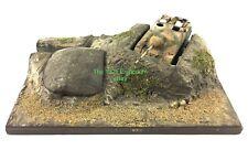 1:72 Scale WWII Battlefield Landscape Tank Bunker Small Diorama Structure Piece