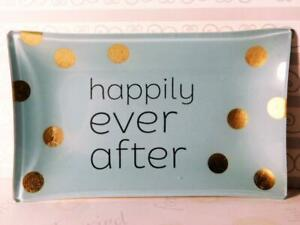 Happily Ever After Mint Candy Trinket Dish Great for Wedding Decoration Table