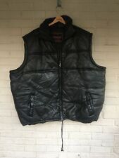Mens Leather Vest 6XL Giovanni Made In Italy