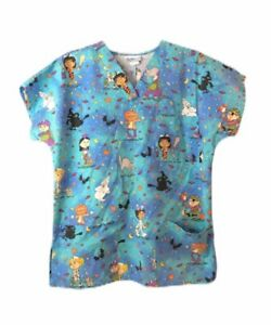 SB Fashion Scrub Top Doctor Nursing Medical Shirt Size Small Unisex Halloween