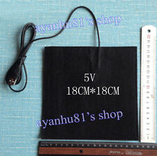 5V 18*18CM USB Electric Cloth Heater Pad Heating Element for Pet Belt Warmer