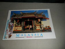 n Malacca Cheng Hoon Teng Temple poscard with melaka 750 stamps cancellation