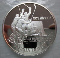 1997 CANADA PROOF SILVER DOLLAR HEAVY CAMEO COIN