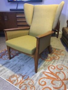 Mid Century Stylish Original Parker Knoll Wing Backed chair PK 988