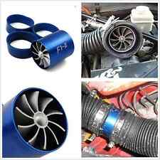 Blue F1-Z Single Turbine Turbo Charger Air Intake Gas Fuel Saver Fan Car Lader