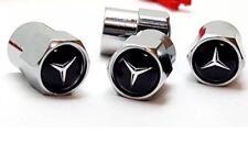 Tapones de polvo Válvula De Aire Negro Mercedes Coche Rueda Neumático Tapas PC X 4