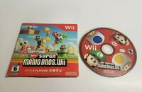 New Super Mario Bros. Wii (Nintendo Wii, 2009) Game Disc Only w Sleeve TESTED